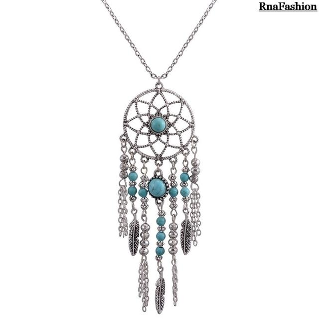 Rnafashion jewelry necklaces pendants for women bohemian blue rnafashion jewelry necklaces pendants for women bohemian blue stone choker jewelry neck chain jewellery vintage aloadofball Gallery