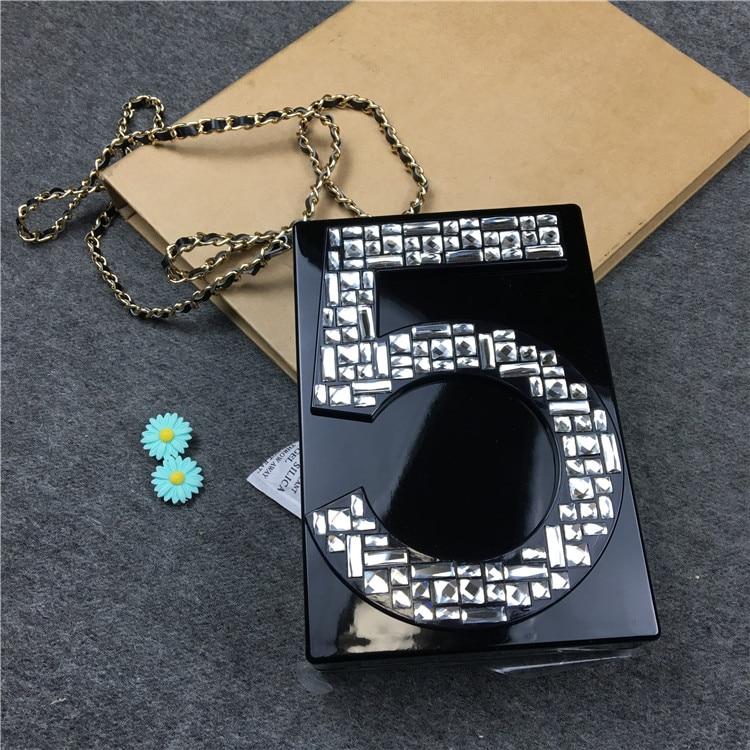 ФОТО Fashion brand letter diamond gold striped acrylic luxury catwalk purse ladies clutch evening bag handbag shoulder messenger bag