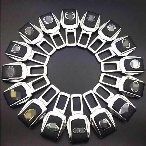 Pour mercedes-benz BMW Audi Lexus Mazda VolvoToyota Porsche Honda sécurité automobile 1 Pc en alliage de Zinc ceinture de sécurité Clip ceinture de sécurité