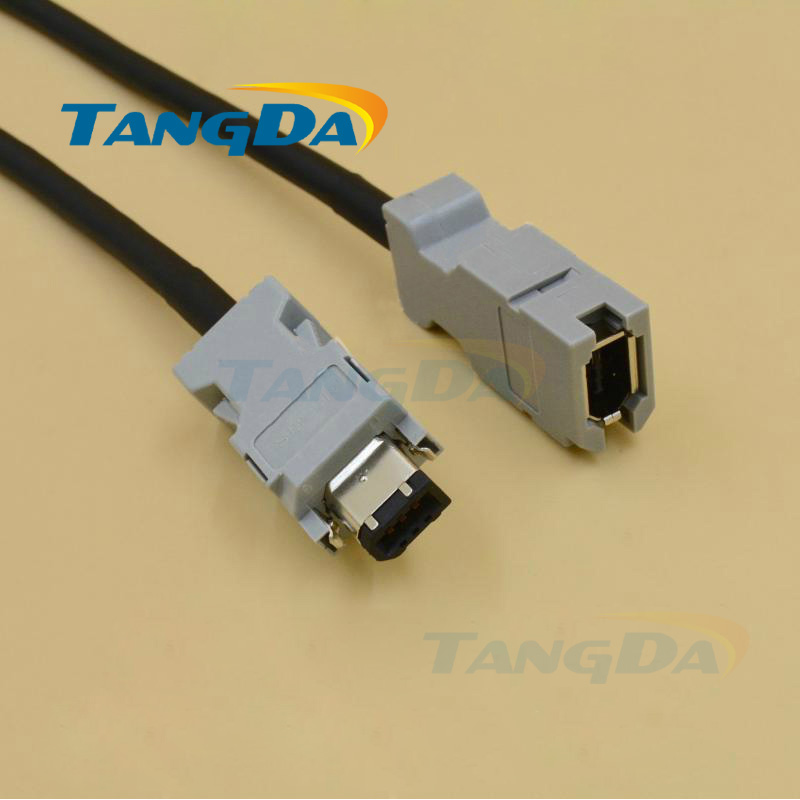 Tangda for Yaskawa servo motor encoder cable Wire JZSP-CMP00-03 05 08 6 core 6p JZSP-CMP00 encoder utsih b17ck suitable for yaskawa series servo motors sgmgh 05aca61 09aca61 13aca61 20aca61 30aca61 44aca61 55aca61