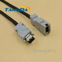 Tangda voor Yaskawa servomotor encoder kabel Draad JZSP-CMP00-03 05 08 6 core 6 p JZSP-CMP00