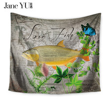 JaneYU 15 Colors Bedding Decoration multi-function Tapestry Fish Printed Beach Thin Sunbath Multifuctional