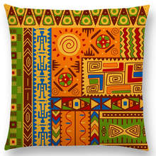 Decorative Cushion Cover with Traditional African Ornament