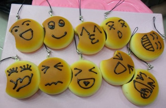 SP125  cute emotional faces Squishy smashed bean bun squishy Cell Phone Charm,valentine's gift,mixed order