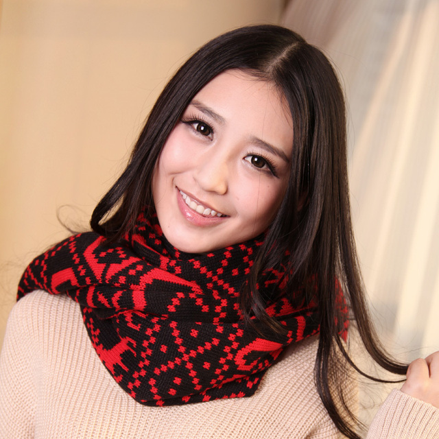 Autumn and winter elizabethans cape yarn thermal ultra long solid color scarf
