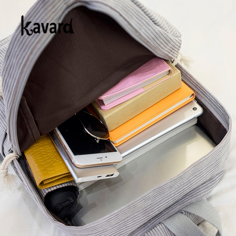 Kavard Backpacks Women Nylon Bagpack Softback Solid Bag Fashion Soft Handle Mochilas Mujer Escolar Rucksack School Bag For Girls #6