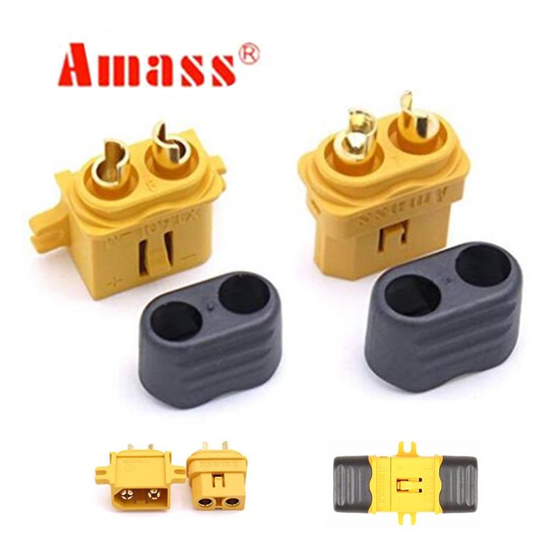 1 Pair Amass Fixed XT60-L Plug Connector With...