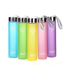 280ml Frosted BPA Free Plastic Water Bottle Leak Proof Girl