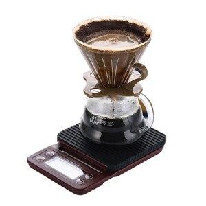 Image 3 - Balance électronique Portable avec minuterie 3kg/0.1g LCD balances de café de cuisine numérique outil de pesage balance de bijoux de précision balance