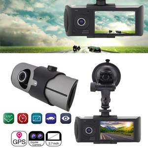 Image 4 - Kamera samochodowa pozycjonowanie GPS rejestrator jazdy HD 2.7 Cal ekran LCD kamera samochodowa lustro szerokokątny obiektyw mikrofon