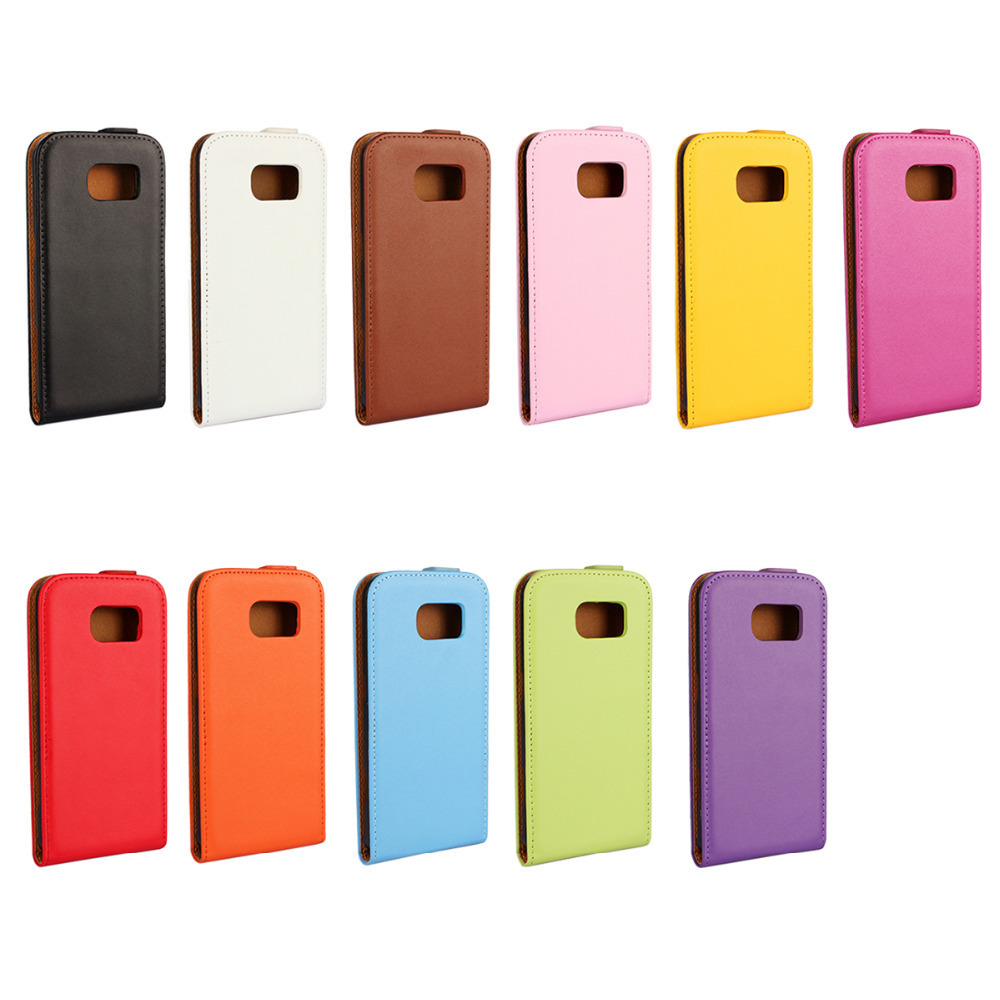 Flip Genuine Leather Cover For <font><b>Samsung</b></font> Galaxy S6 <font><b>SM</b></font>-<font><b>G920</b></font> Case with Cardholder + Free Screen Protector image