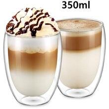 2020 nowy 80ml/250ml/350ml/450ml podwójny kubek szklany kawy podwójna ścianka izolacja kubek do herbaty Drinkwear schemat zdrowia kubek filiżanka kawy