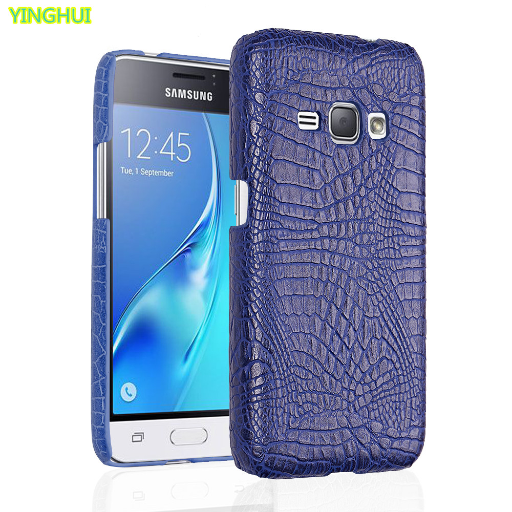 For Samsung Galaxy J1 2016 phone bag case Luxury Crocodile Skin PU leather Case For Samsung J1 2016 j120 j120f