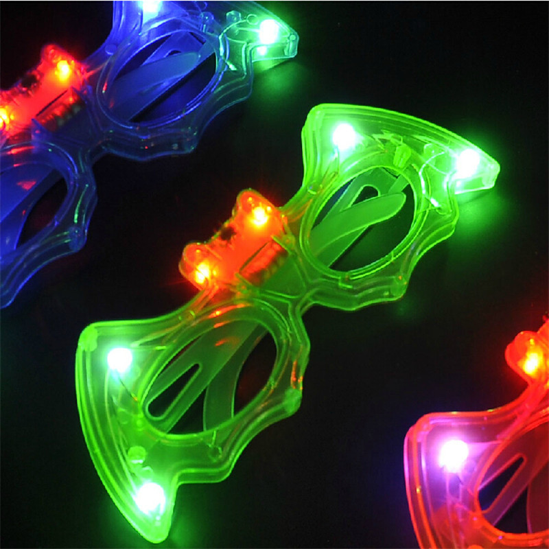 Dynamisch 24 Stks/partij Cool Led Vleermuis Bril Knipperend Zonnebril Speelgoed Party Ktv Bar Levert Cartoon Glow Masker Bril Licht Up Kids Speelgoed