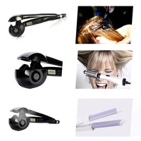 LCD Digital Automatic Curling Iron Ceramic Roller Waver Machine Fast Heating Roller Curly Hair Temperature Control Wet/Dry Use