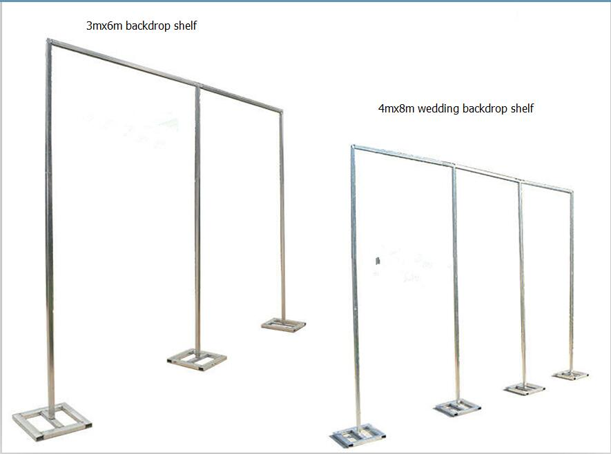 Wedding props thickening square tube Frame Adjustable Pipe Drape Stainless Steel Wedding Curtain Backdrop Stand