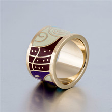 Naruto Fire Shadow Sign Enamel Width Big Ring
