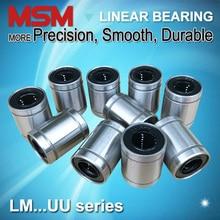 10 adet MSM lineer rulmanlar LM4 LM5UU LM6UU LM8UU LM8SUU LM10UU LM12UU LM13UU LM16UU LM20UU LM25UU LM30UU mil burçlar mm