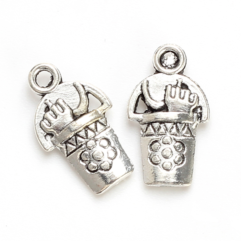 Lucky Eye 20pcs/lot Tool Bucket Charms Antique Silver Alloy Charms For Jewelry Finding Making Bracelet Necklace Pendant EY4764