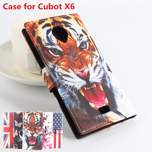 High Quality Leather Case For Lenovo Cubot X6 X 6 Flip Cover Case With Card Slot For CubotX6 Leather Cover Phone Cases