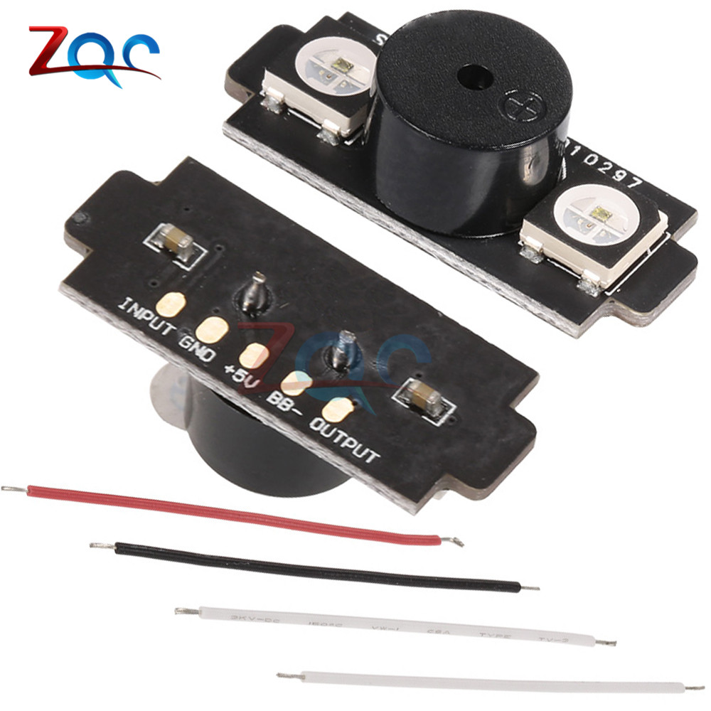 HGLRC 2-in-1 WS2812B 5V LED with Alarm Buzzer Motor Base Light for Naze32 F3 CC3D Flight Control FPV RC Drone Helicopter free shipping lantian ws2812b rgb5050 led 4 bit for fpv naze32 cc3d flight controller build in colorful driver