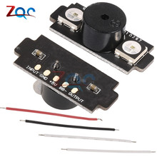 HGLRC 2-in-1 WS2812B 5V LED with Alarm Buzzer Motor Base Light for Naze32 F3 CC3D Flight Control FPV RC Drone Helicopter