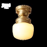 Americano lâmpadas de teto cobre completo varanda cozinha e passarela luzes da escada vidro lâmpadas teto e lanternas luzes luminária