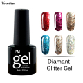 verntion 3D Diamond Glitter UV Nail Gel Polish Led UV gel Lacquer lucky bling soak off Sequin Nail Gel Varnish Gel Base And Top