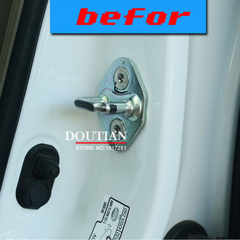 NEW 3D Stainless Steel Kunci Pintu Gesper Perlindungan Pelindung - Suku cadang mobil - Foto 6