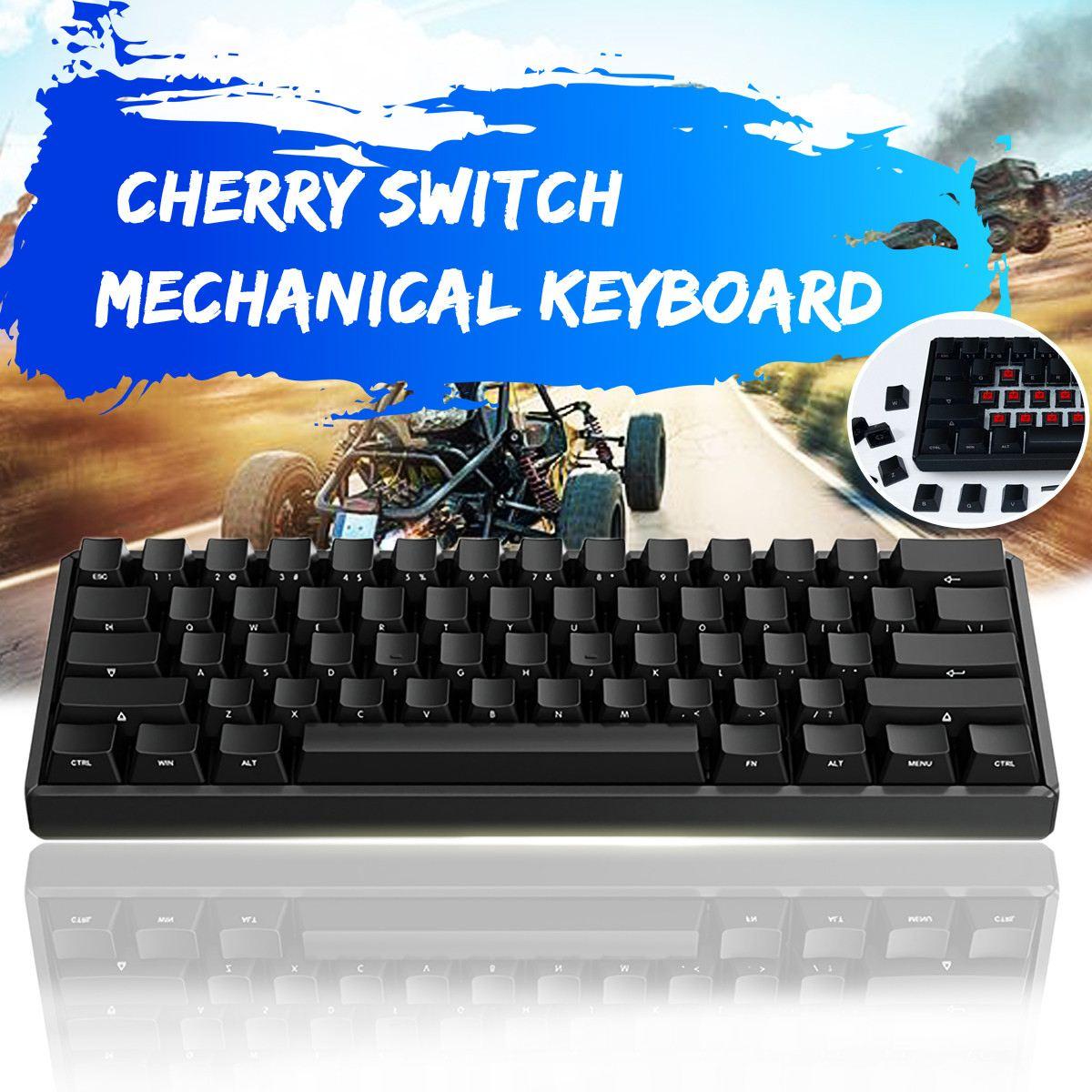 Cherry MX Red Switch IQUNIX F60 60% bluetooth 3.0 Type-C Wired  PBT Keycaps Mechanical Keyboard 295X104X42mm ducky one cherry mx red