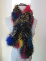 Women's Real Fox Fur Knitted Scarf / Neckerchief Colorful Winter Fashion Warm Soft