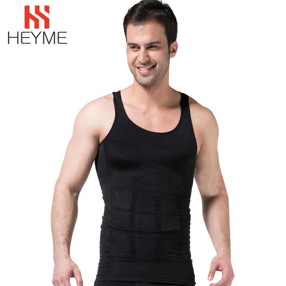 HEYME erkekler zayıflama vücut şekillendirici karın şekillendirici yelek iç çamaşırı göbek bel kas kuşak gömlek yağ yakma korse kilo kaybı E