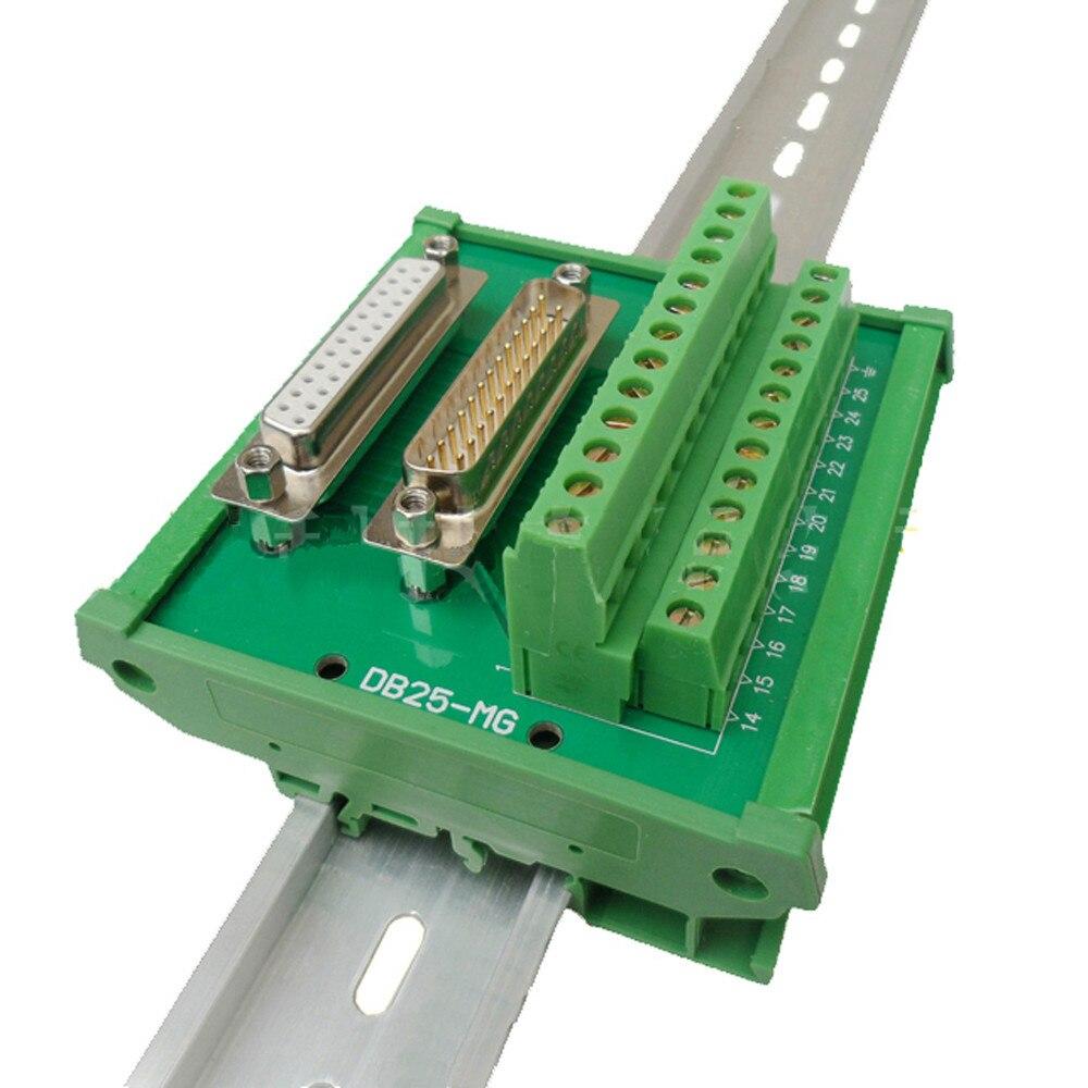 6 Pin Terminal Block Škoda 1j0973713: DB25 Male Female D Sub 25 Pin Connectors Terminal Block