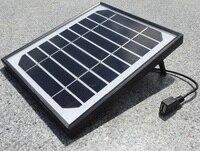 5.5 W Chargeur Solaire pour Téléphones portables + USB Output + Haute Qualité Mono Solaire Panneau Solaire batterie Chargeur puissance station + Livraison Gratuite