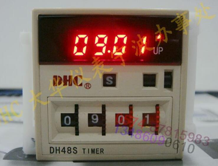 Wenzhou Dahua time relay DH48S voltage 220V 8 feet with AC and DC voltage socket wenzhou dahua time relay dhc6a a3 power failure to maintain the call to continue with lcd backlight with backlight