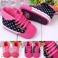 0-2 лет девочка первая прогулка обуви красные и розовые цвета девушки младенческой тапки zapatos bebe 405