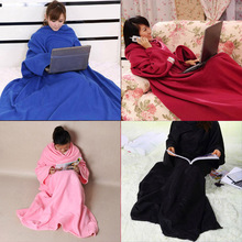 Super Large Size Blanket Home Winter Warm Fleece Snuggie Blanket Robe Cloak With Sleeves for Adult and Children