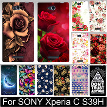 Newer Print Beautiful Flower Rose Peony Tulip Fish Swan Hood Phone Cases Covers For SONY Xperia C S39H C2305 Case Shell(China)