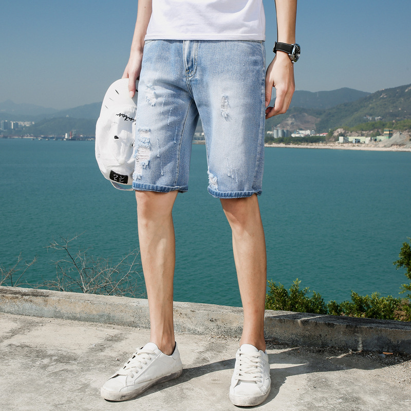 2018 New Summer Men Jeans Shorts Fashion Cotton Men's Comfort Waist Denim Short women s floral embroidery denim shorts 2017 summer fashion hight waist short jeans femme cotton shorts plus size xl e984