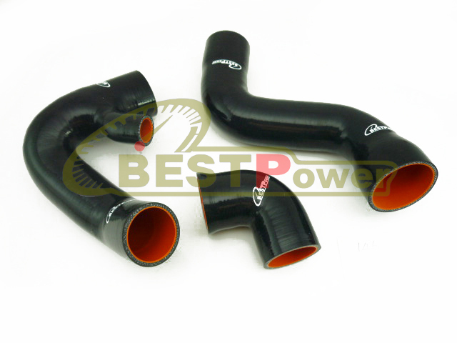 Silicone Turbo Hose Pipe Tube Black for 02 03 04 05 Audi A4 B6 B7 VW