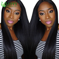 250% Density Lace Front Human Hair Wigs Deep Part 13x6 Lace Frontal Wig With Baby Hair Yaki Straight Lace Front Wig For 2017