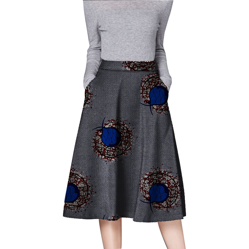 African fashion skirts ladies dashiki clothes element ankara skirt tailor made bright wax women africa clothing