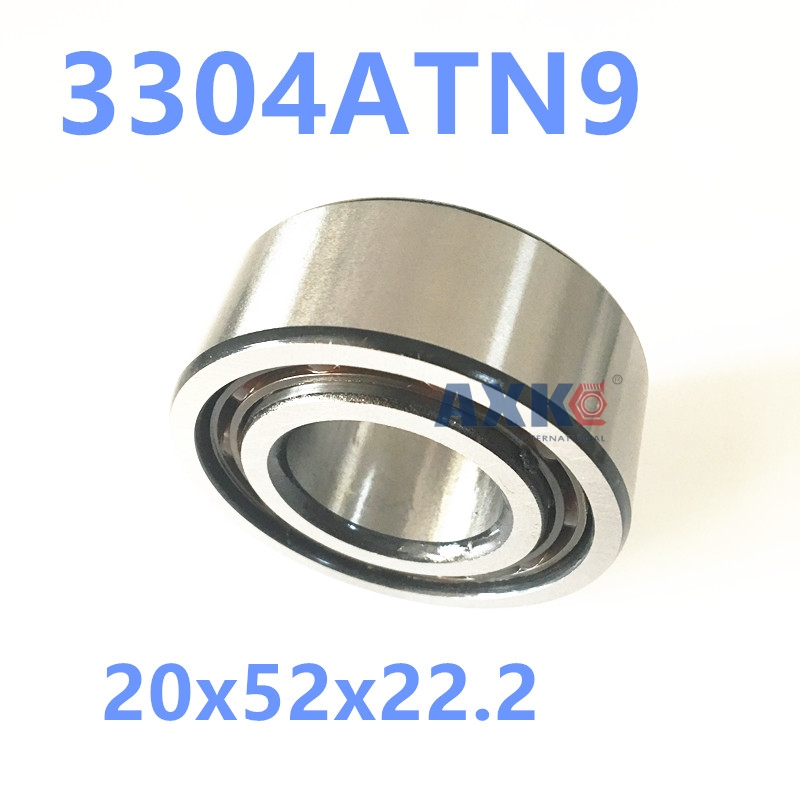 1PCS 3304ATN9 3304 3304A 5304 20x52x22.2 3304-B-TVH 3056304 3304B Double Row Angular Contact Ball Bearings  AXK  Bearing