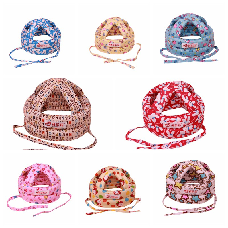 Lovely Adjustable Baby Toddler Safety Helmet Headguard Winter Children Cute Hats Cap Harnessest baby safety helmet toddler headguard hat protective infants soft cap adjustable for crawl walking running outdoor playing
