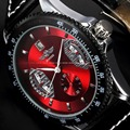 Brand New Winner Fashion Leather Band Stainless Steel Skeleton Watches Men's Automatic Mechanical Date Black Luxury Wrist Watch