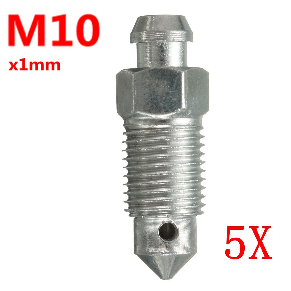 M10x1mm M8x1.25mm Motorcycle Braking Brake Caliper Bleed Screw Nipple with Dust Cap(China)