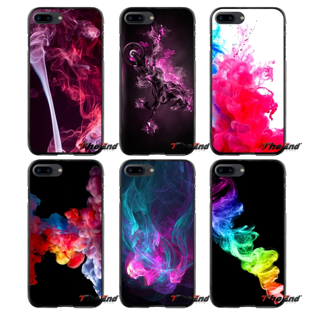 Accessories Phone Shell Covers For Apple iPhone 4 4S 5 5S 5C SE 6 6S 7 8 Plus X iPod Touch 4 5 6 Pink Smoke