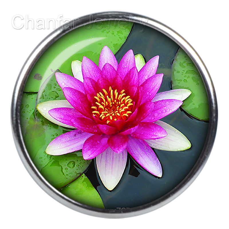 Popular sale round glass snap button jewelry for mother's gift 12mm 18mm 20mm etc for choice image