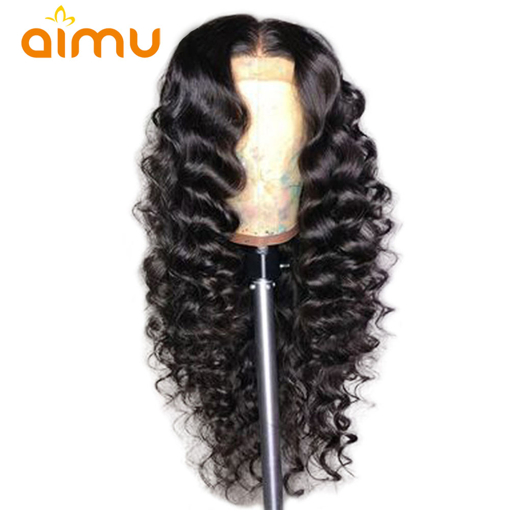 Wet And Wavy Human Hair Wigs Deep Part Loose Wave 360 Lace Frontal Wigs With Baby