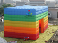 2018 High Quality And Lowest Price Rainbow 8X5M or Customized Inflatable Cube Event Tent,Inflatable Marquee on Sale